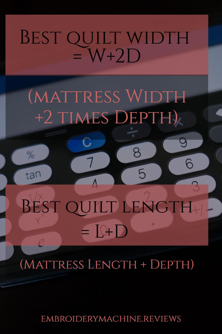 Formula to Find the Best Quilt Size
